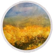 California Orchards Round Beach Towel