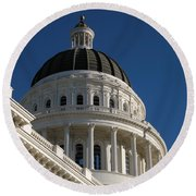 California State Capitol Dome Round Beach Towel