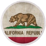 California State Flag Round Beach Towel