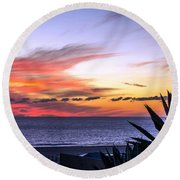 California Sunset Round Beach Towel by Mike Ste Marie