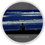 California Surfer 2007 Round Beach Towel