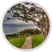 California Tranquility Round Beach Towel