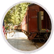 California Western Railroad Round Beach Towel