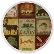 Call Of The Wilderness Round Beach Towel by Jean Plout