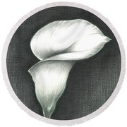 Calla Lily Round Beach Towel by Troy Levesque