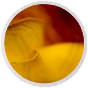 Round Beach Towel featuring the photograph Calla Lily Waves by Sebastian Musial