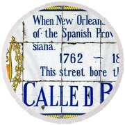Calle D Borbon Round Beach Towel