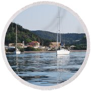 Calm Sea 2 Round Beach Towel