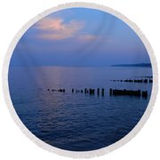 Calming Seas Round Beach Towel by Emmy Marie Vickers