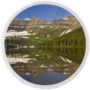 Cameron Lake Round Beach Towel by Dee Cresswell