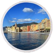 Round Beach Towel featuring the photograph Camogli - Italy by Antonio Scarpi