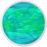 Round Beach Towel featuring the digital art Camouflage Fish by Stephanie Grant