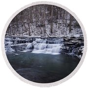 Campbell Falls Round Beach Towel