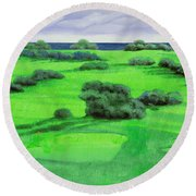 Campo Da Golf Round Beach Towel