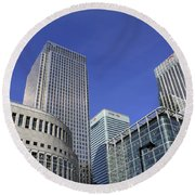 Canary Wharf London Round Beach Towel