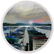 Candlewood Lake Round Beach Towel
