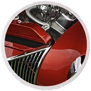 Candy Apple Red And Chrome Round Beach Towel