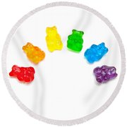 Candy Bears Round Beach Towel by Art Block Collections