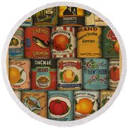 Canned Round Beach Towel