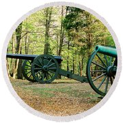 Cannons I Round Beach Towel by Anita Lewis