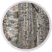 Can't See The Wood For The Trees Round Beach Towel by Dee Cresswell