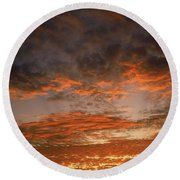 Canvas Sky Round Beach Towel