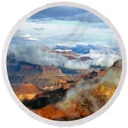 Canyon Clouds Round Beach Towel