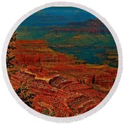 Canyon Colours Show Through Round Beach Towel