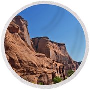 Canyon Dechelly Navajo Nation Round Beach Towel by Bob and Nadine Johnston