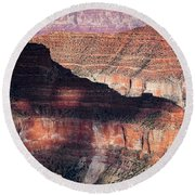 Canyon Layers Round Beach Towel