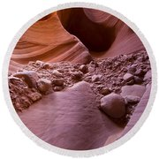 Canyon Rocks In Abundance  Round Beach Towel