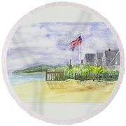 Massachusetts -cape Cod Cottages Round Beach Towel
