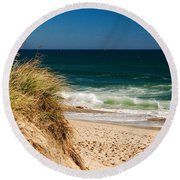 Cape Cod Massachusetts Beach Round Beach Towel
