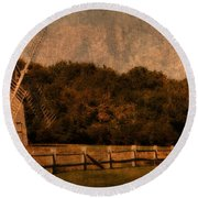 Cape Cod Windmill Round Beach Towel