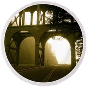 Cape Creek Bridge Round Beach Towel