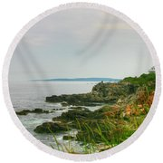 Cape Elizabeth Maine Round Beach Towel by Denyse Duhaime