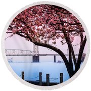 Cape Fear Of Wilmington Round Beach Towel