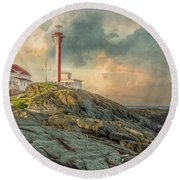 Cape Forchu  Round Beach Towel