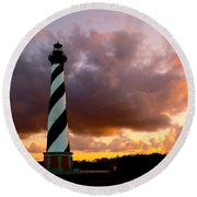 Cape Hatteras Sunset Round Beach Towel