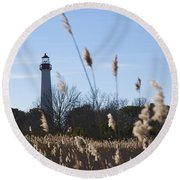 Cape May Light Round Beach Towel