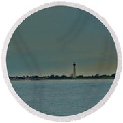 Round Beach Towel featuring the photograph Cape May Point by Ed Sweeney