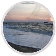 Cape May Sunset Beach Nj Round Beach Towel