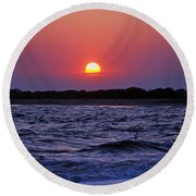 Cape May Sunset Round Beach Towel by Richard Bryce and Family