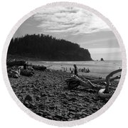 Cape Meares Round Beach Towel