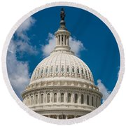 Capital Dome Washington D C Round Beach Towel by Steve Gadomski