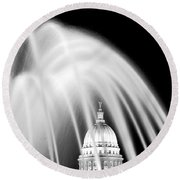Capitol Fountain Round Beach Towel