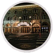 Round Beach Towel featuring the photograph Capitol Theatre by Ely Arsha