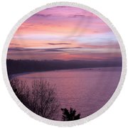 Capitola Bluffs Round Beach Towel
