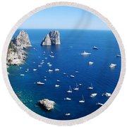 Capri  Round Beach Towel