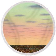 Caprock Sunrise Round Beach Towel